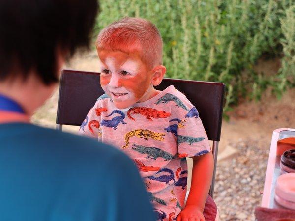 Unter den jungen Besuchern war das Kinderschminken beliebt.