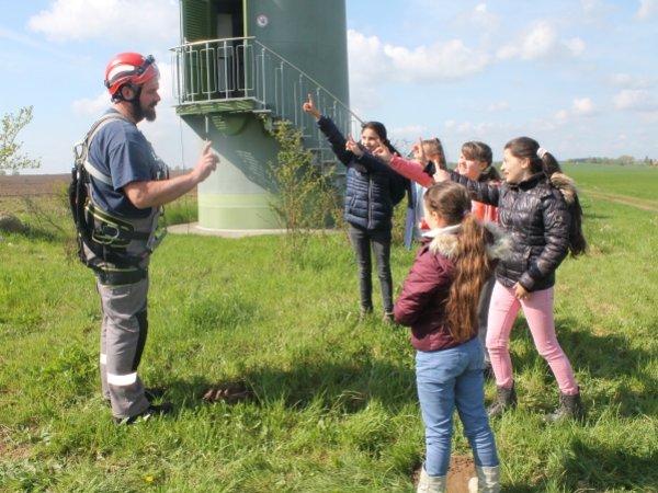Unterricht im Windpark Lutheran