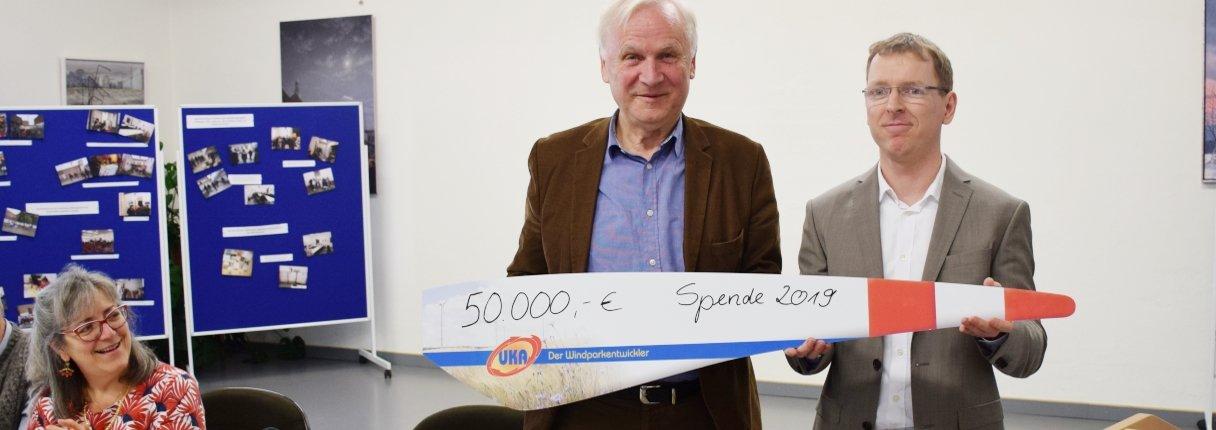 Der Energieparkentwickler spendet 50.000 Euro an die Einrichtung, um ihre Aufklärungsarbeit weiter zu unterstützen.