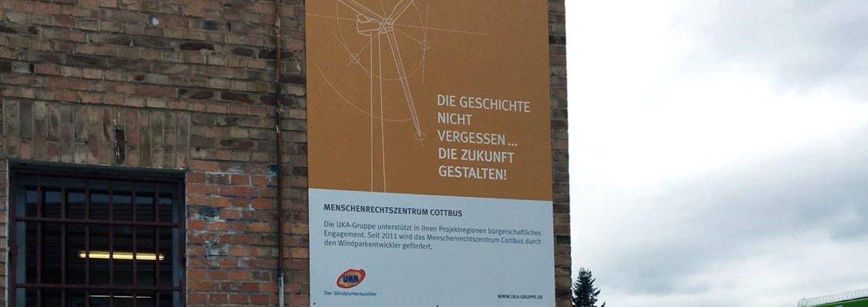 UKA unterstützt das Menschenrechtszentrum Cottbus seit 2011.