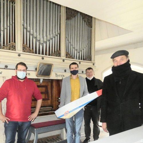 UKA unterstützt Orgelsanierung in Schlenzer mit 8000 Euro. Foto: Gertraud Behrendt