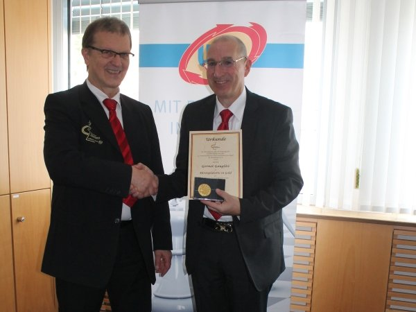 DSB-Präsident Herbert Bastian und der Geschäftsführende Gesellschafter der UKA-Gruppe Gernot Gauglitz