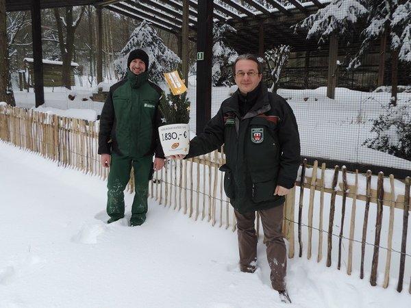 Der Heimat-Tierpark Olderdissen freute sich über 1.830 Euro.
