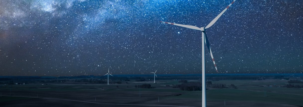 Windpark wird dunkel
