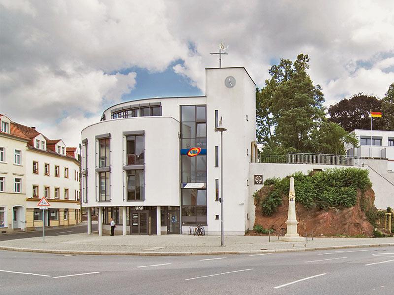 Gebäude der UKA-Verwaltungszentrale in Meißen.