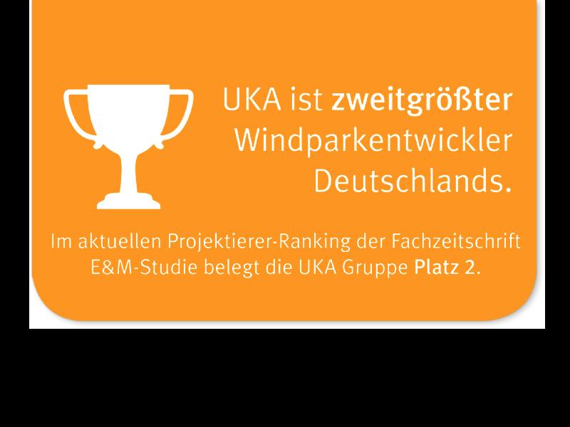 Pokal und Text auf orange-farbenen Hintergrund