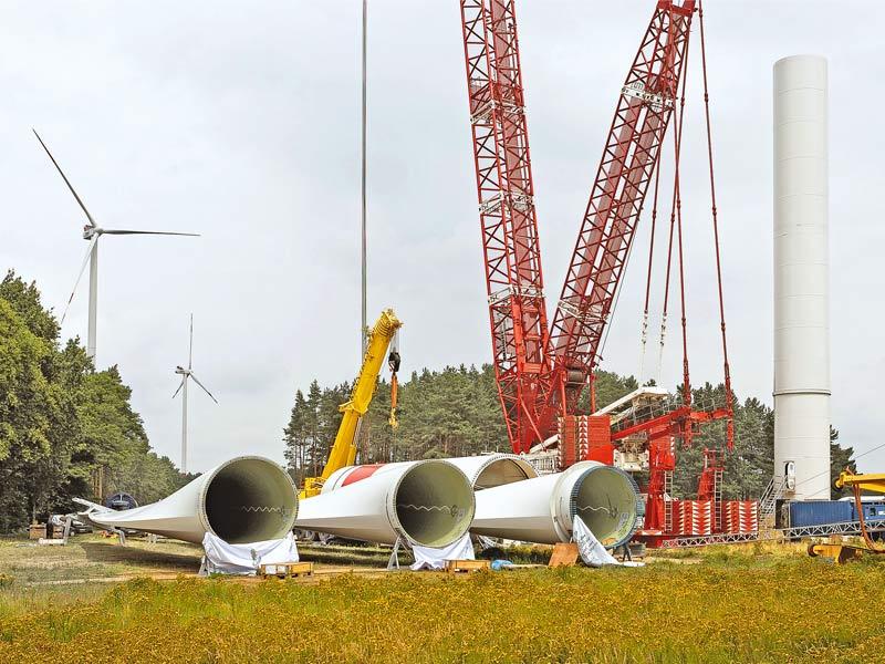 Rückbau einer Windenergieanlage