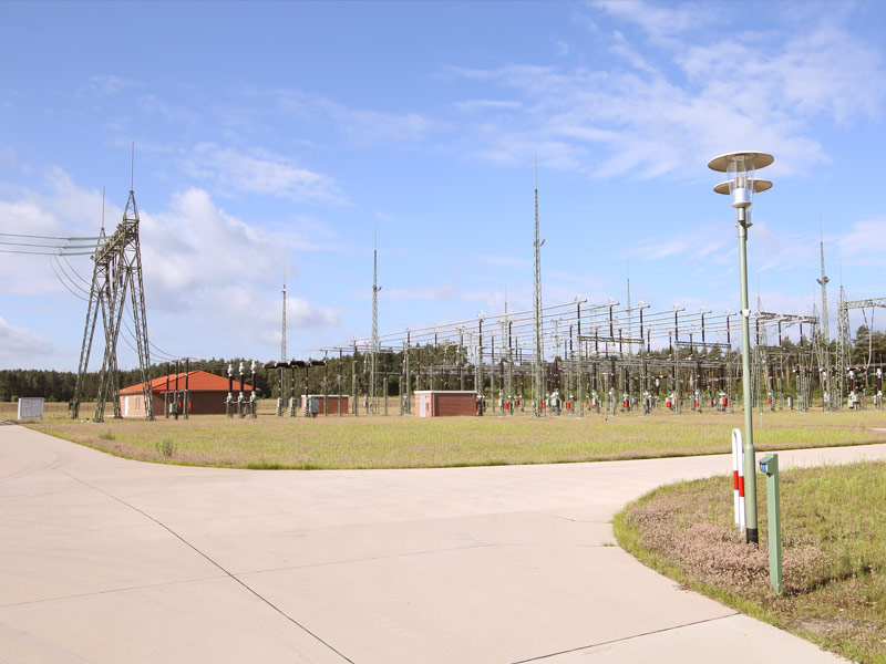 View of the transformer station in Lübz.