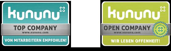 UKA wird bei Kununu als Top Company und Open Company bewertet